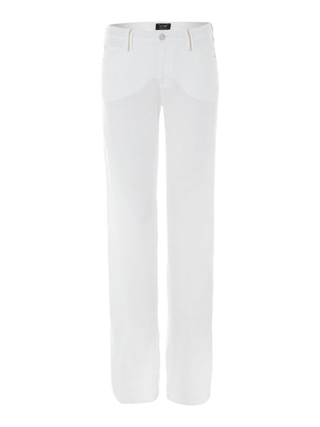 Armani Jeans Wide linen trousers