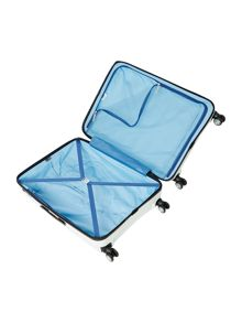 Juno large white roller suitcase