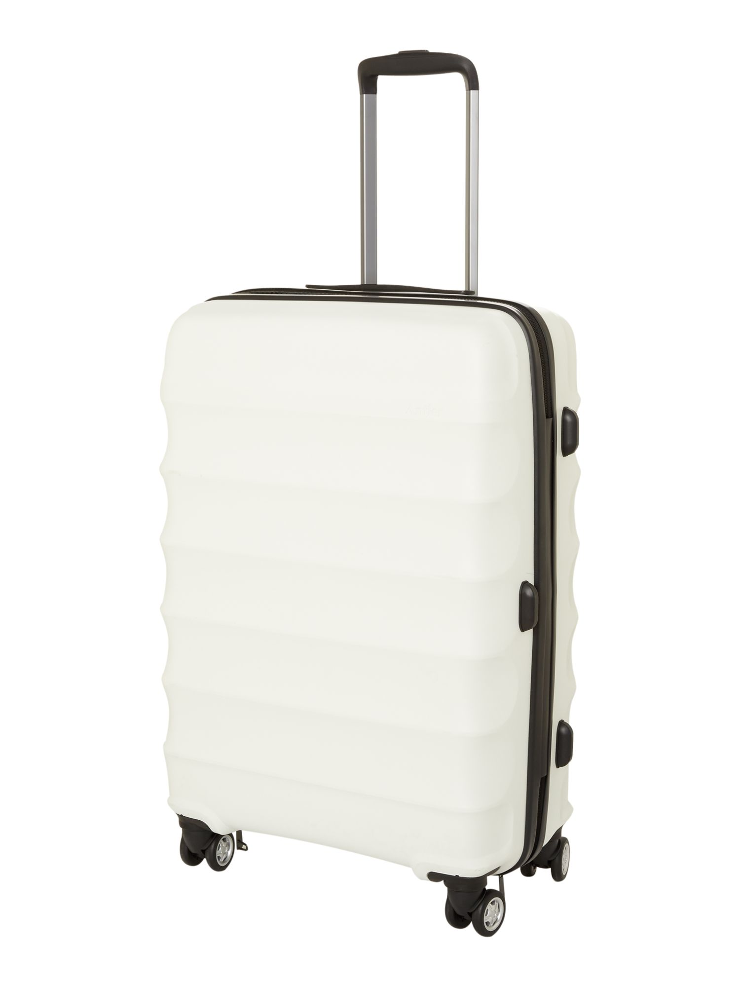 Juno medium white roller suitcase