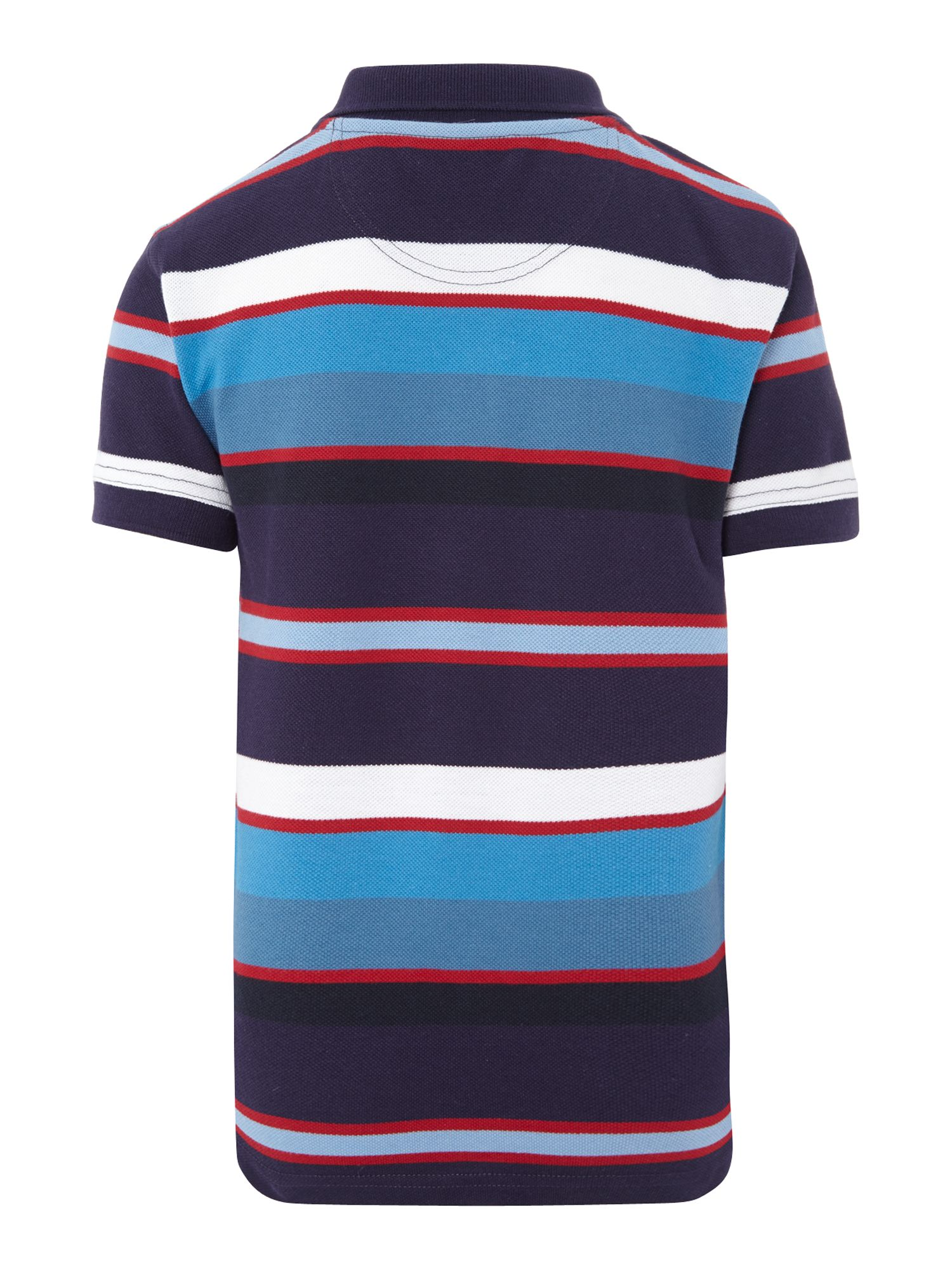 Boys chest logo striped polo