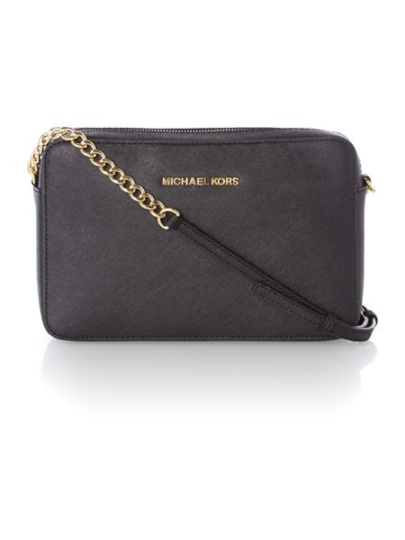 Michael Kors Jet set travel small black cross body bag