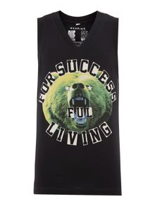 T-prince successful bear printed vest