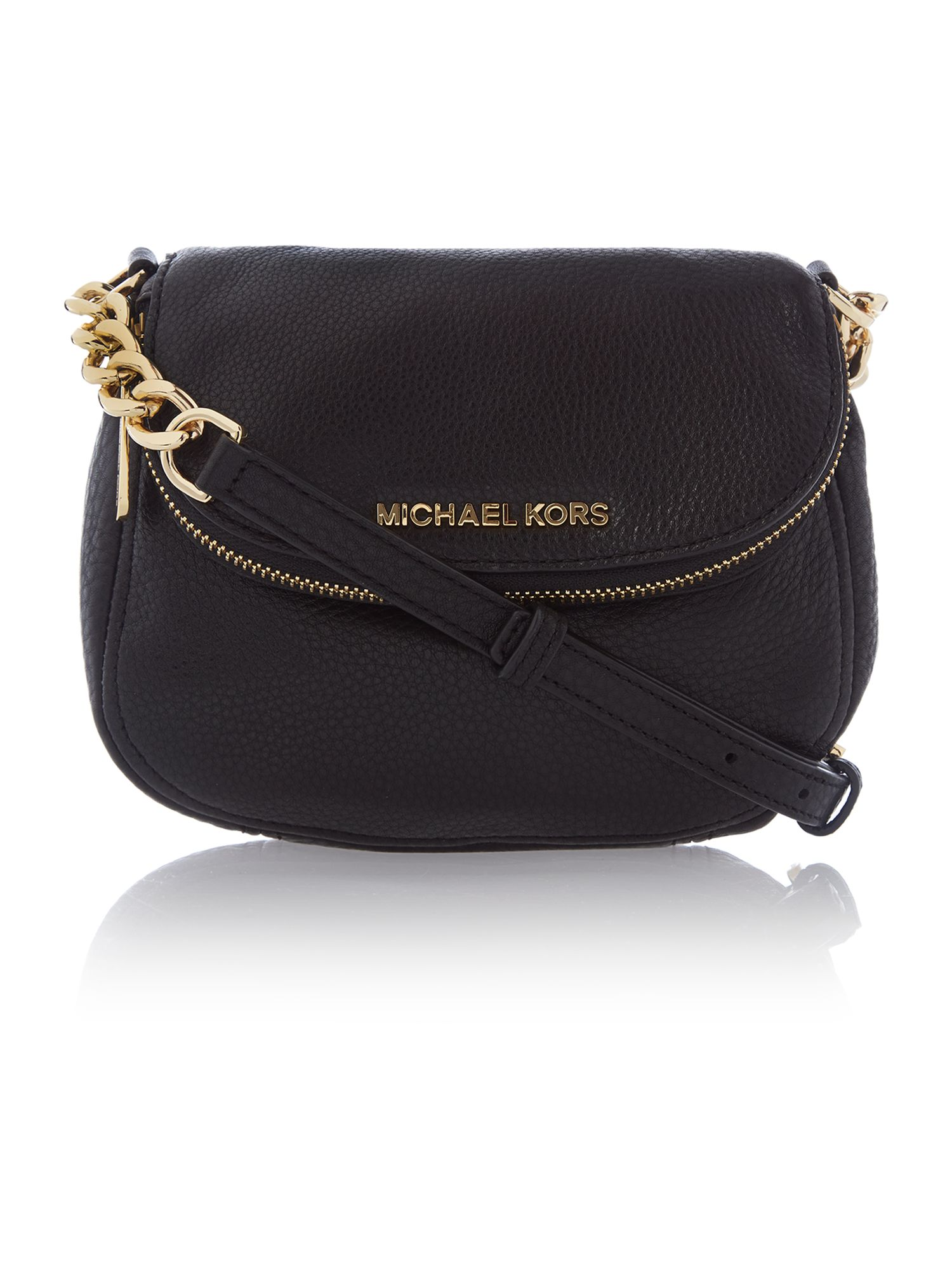 Bedford black flap over cross body bag