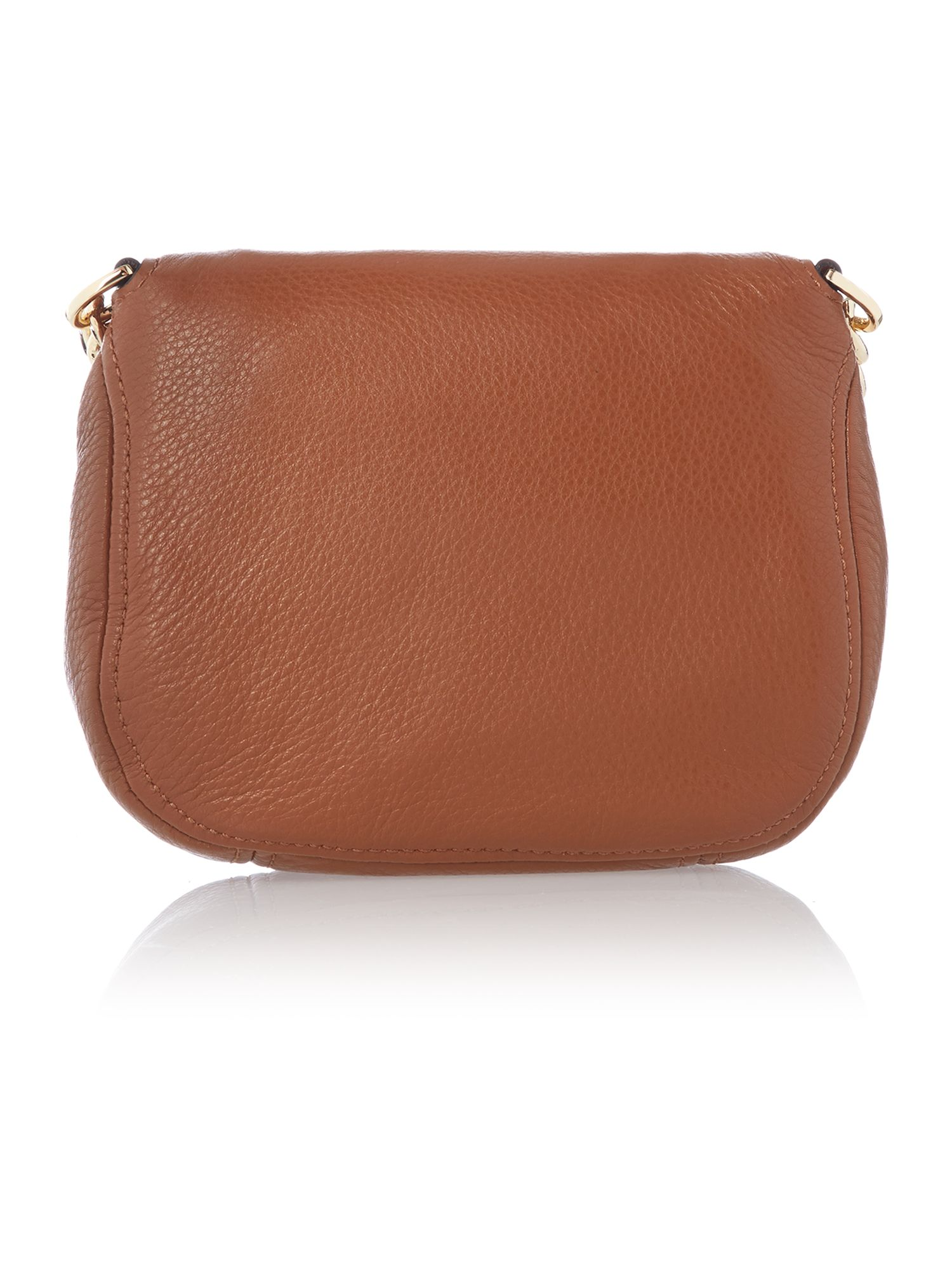 Bedford tan flap over cross body bag