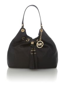 Camden black tassel hobo bag