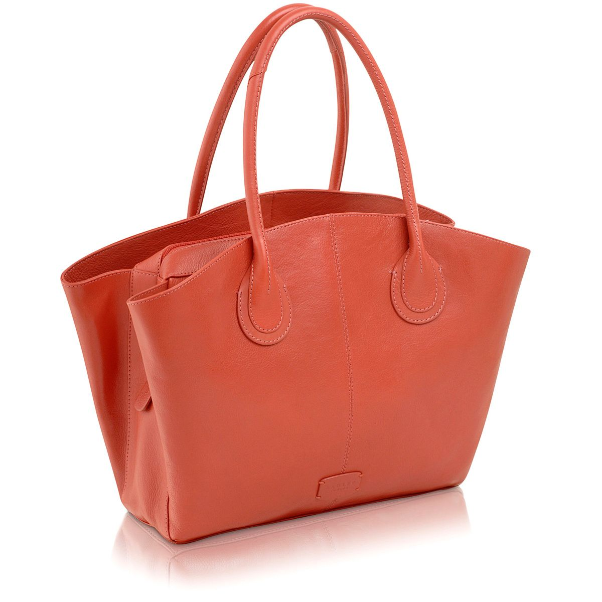 Overton pink large leather tote bag