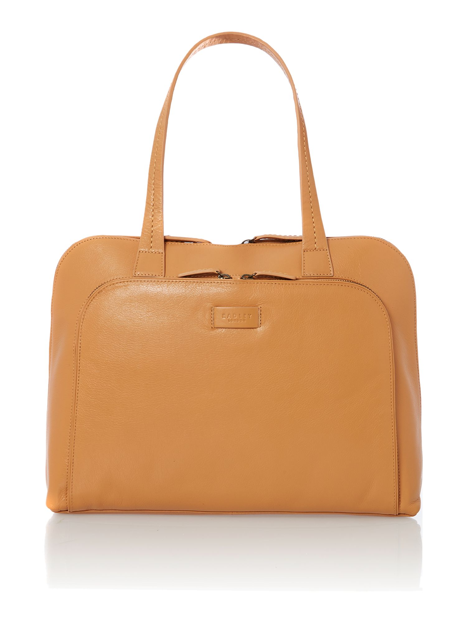 Pippen tan large leather tote bag