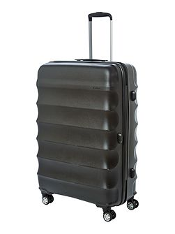Juno large black roller suitcase