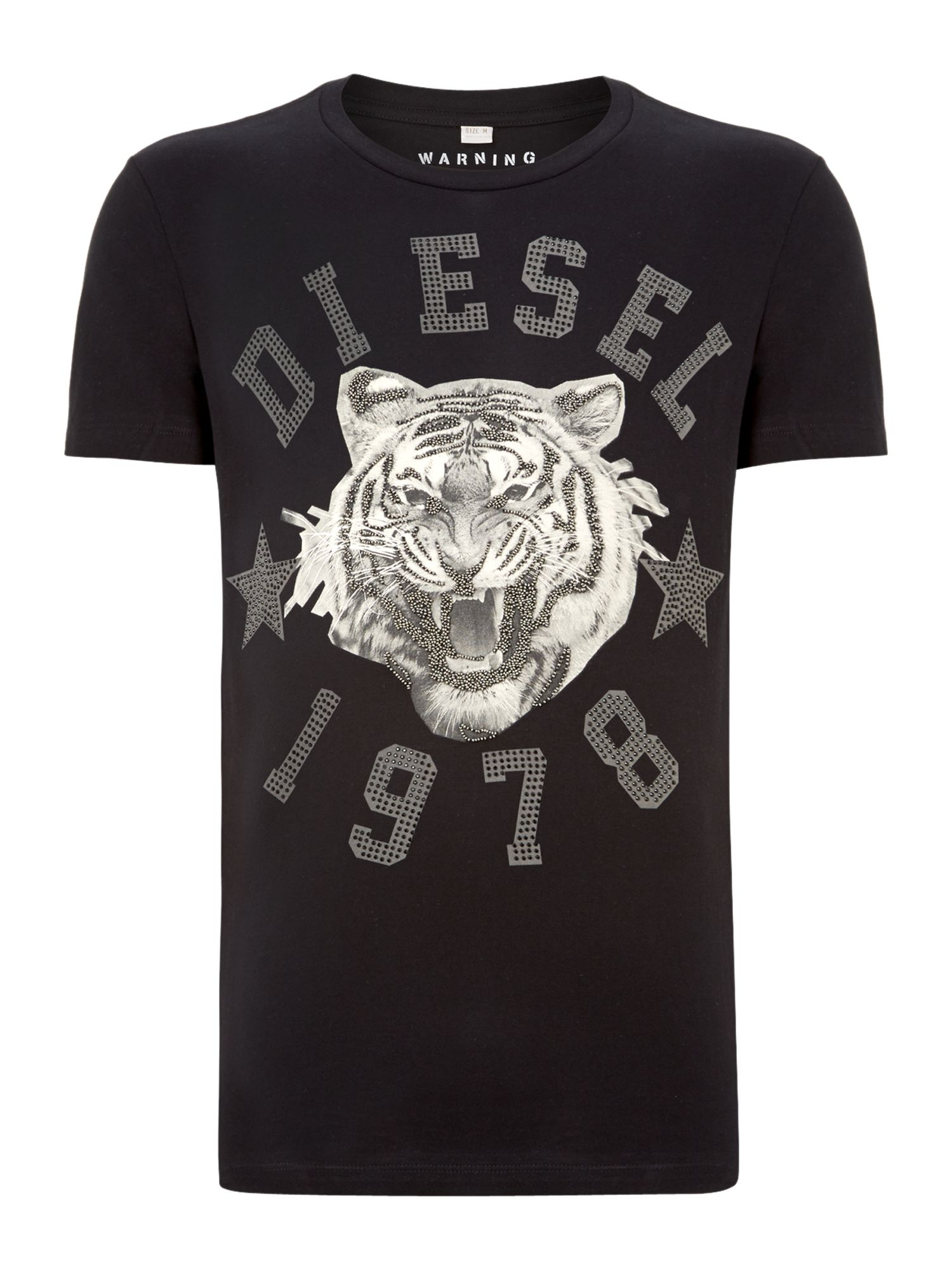 Diamante printed t shirt