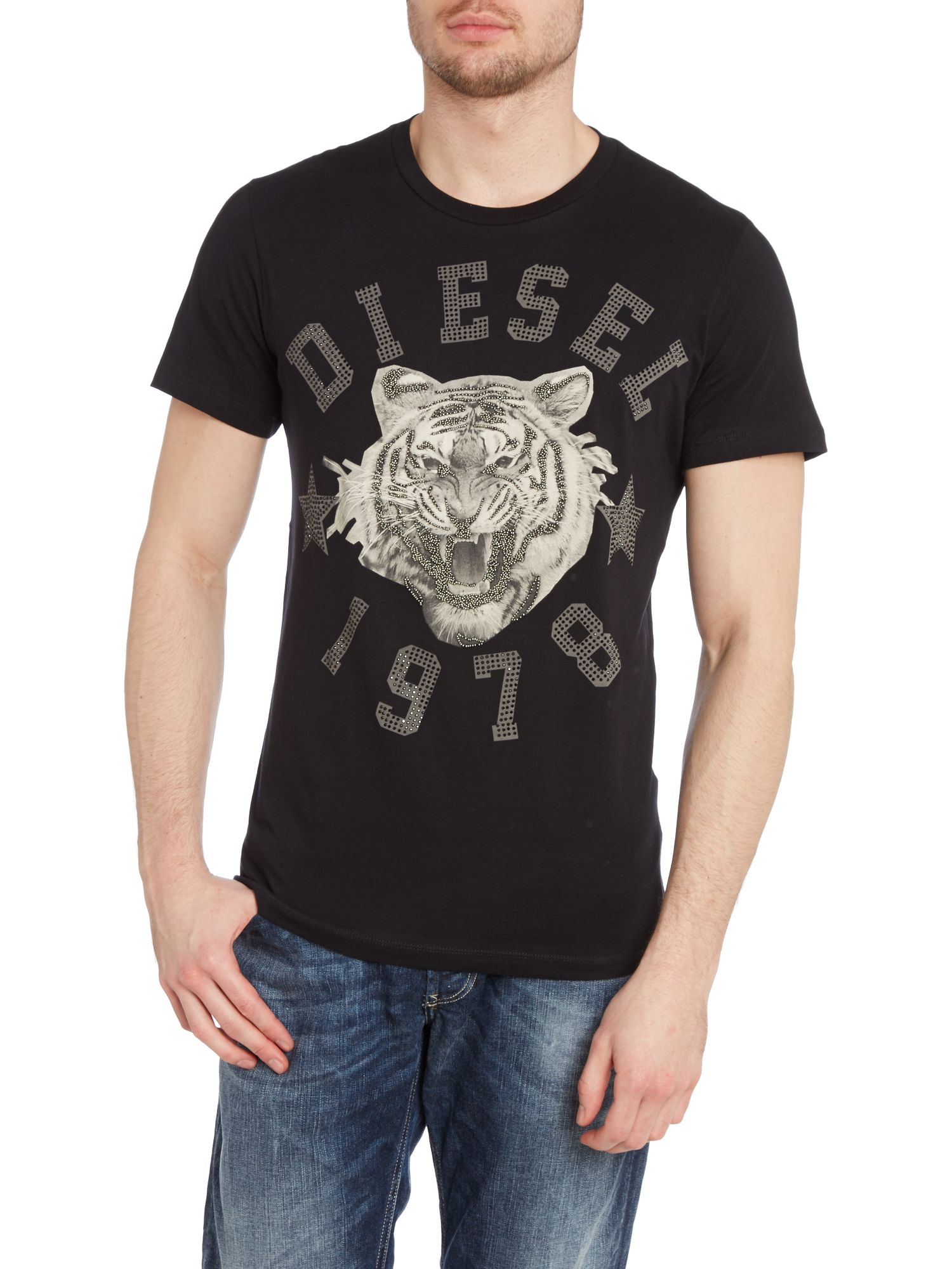 T-tgr diamante printed t shirt