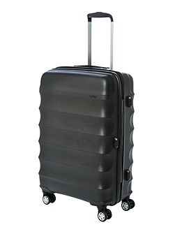 Juno medium black roller suitcase