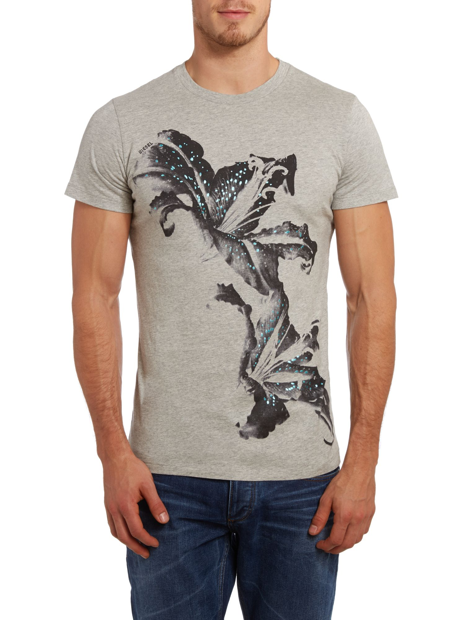 T-tiger large floral printed t shirt
