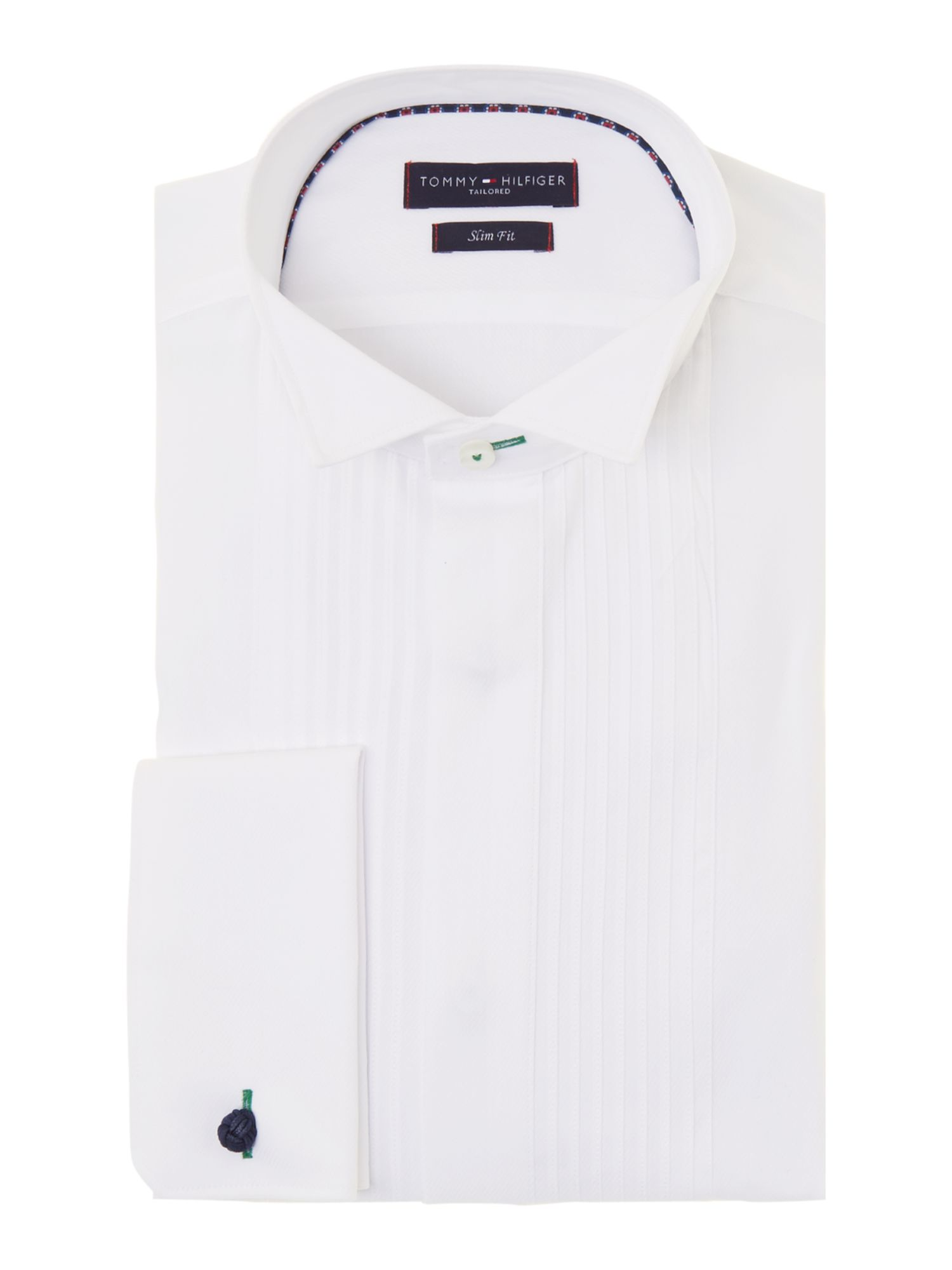 Sydney slim fit pleated placket shirt