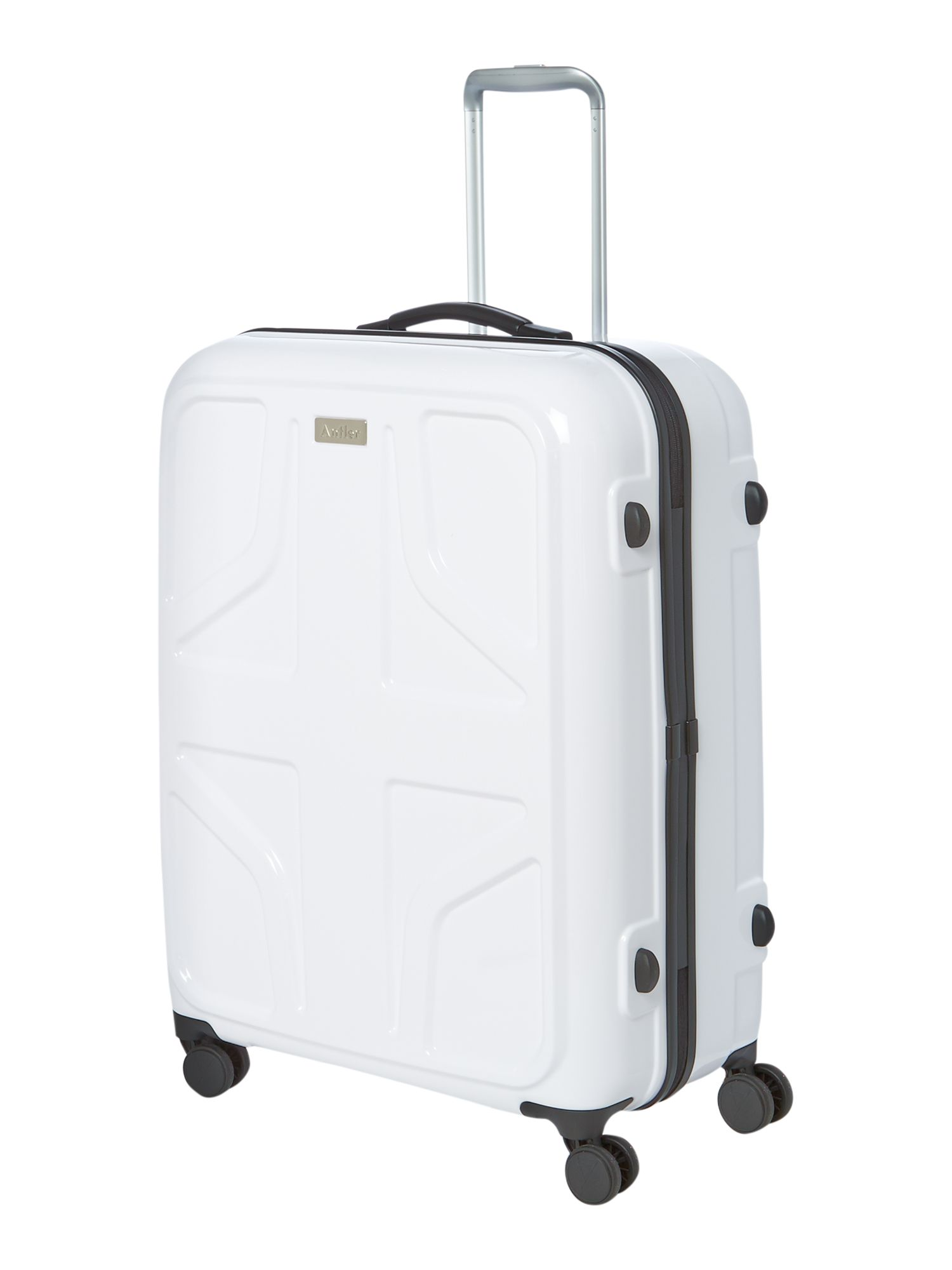 Sterling large white suitcase