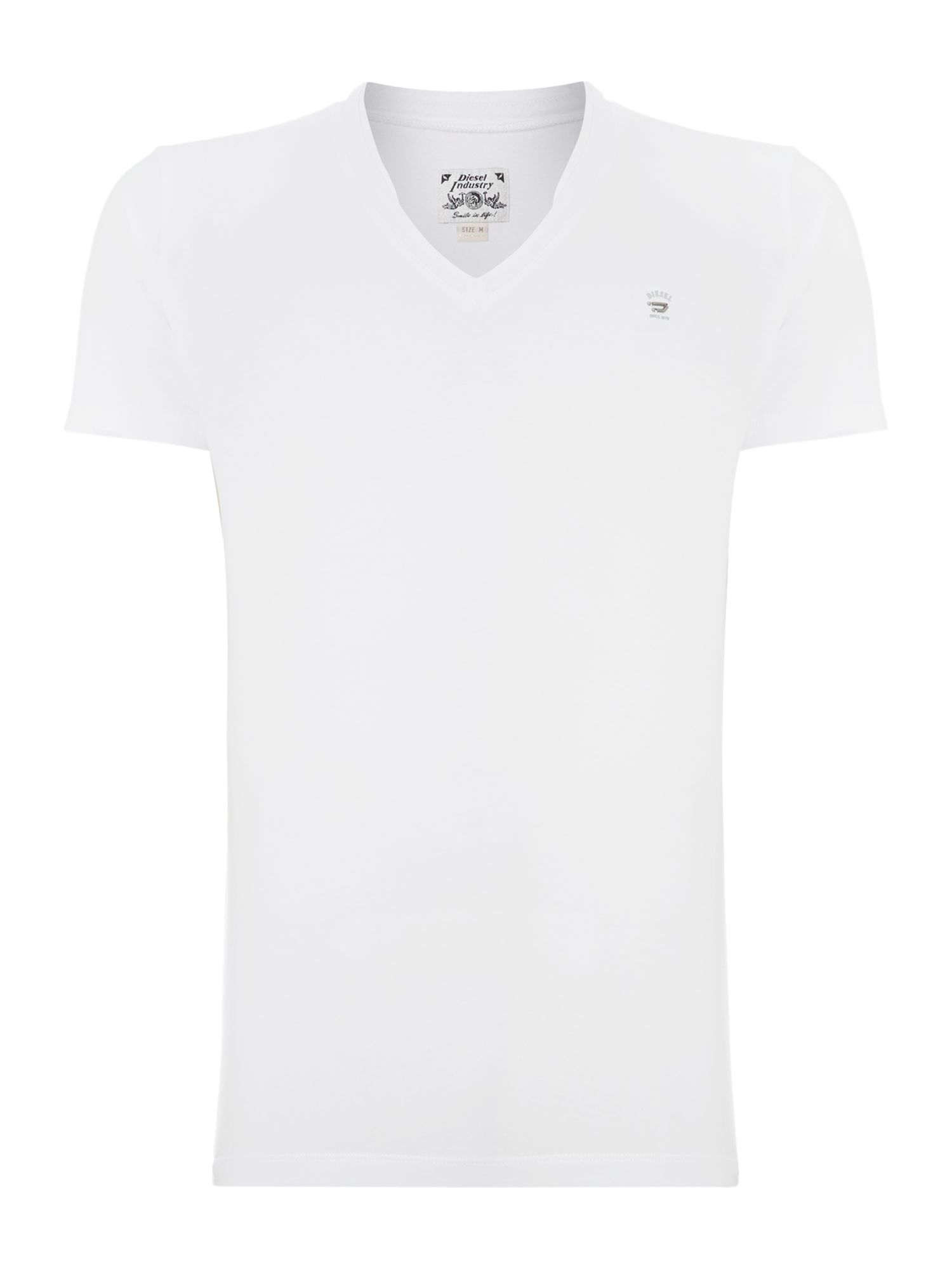 Vee neck logo t shirt