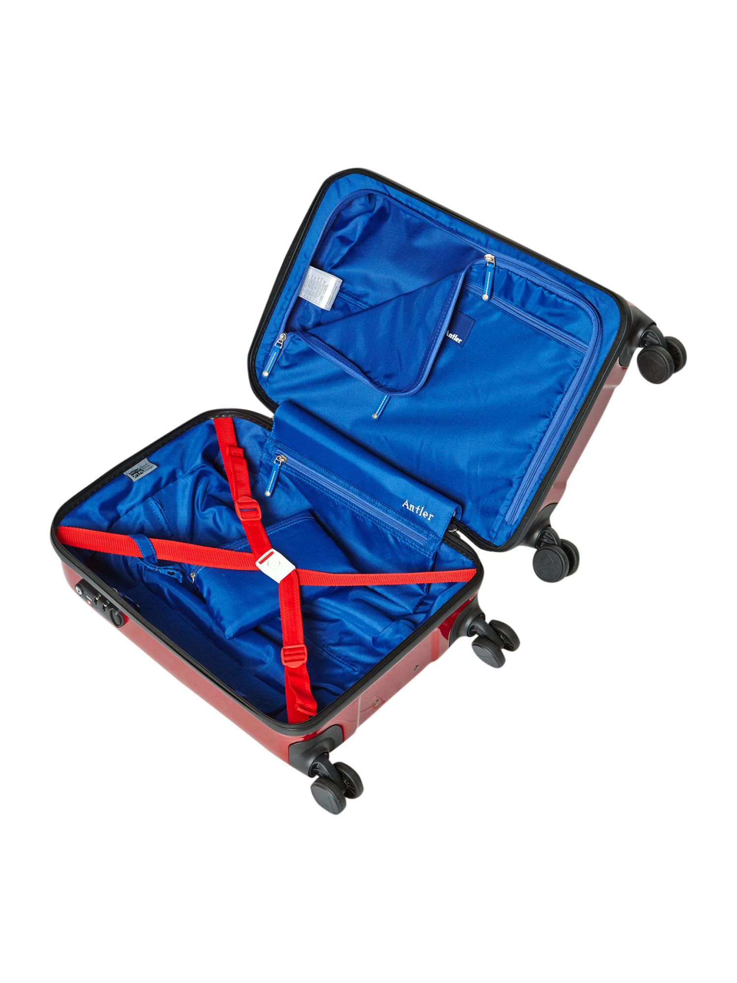 Sterling cabin red suitcase