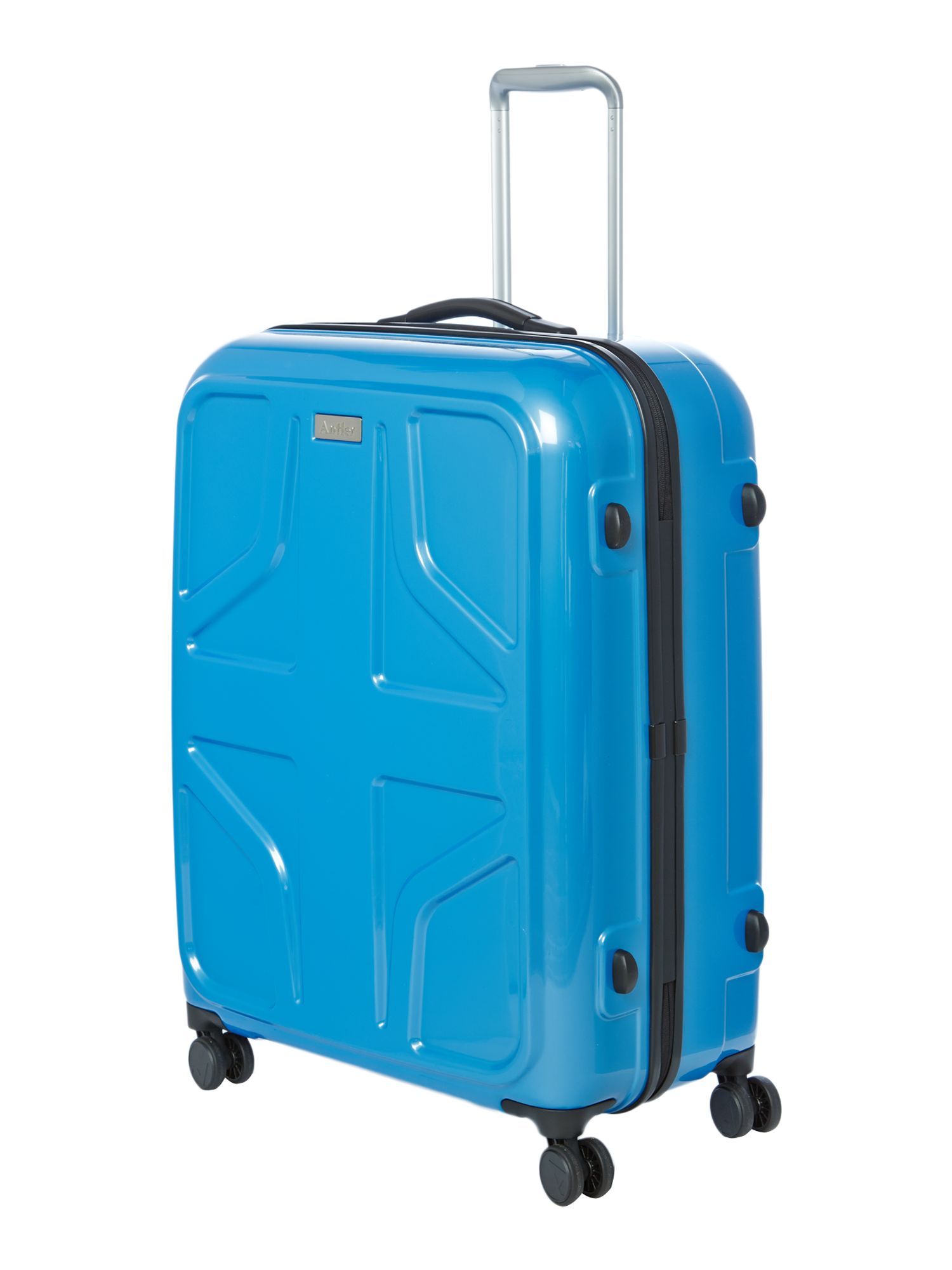 Sterling large blue suitcase