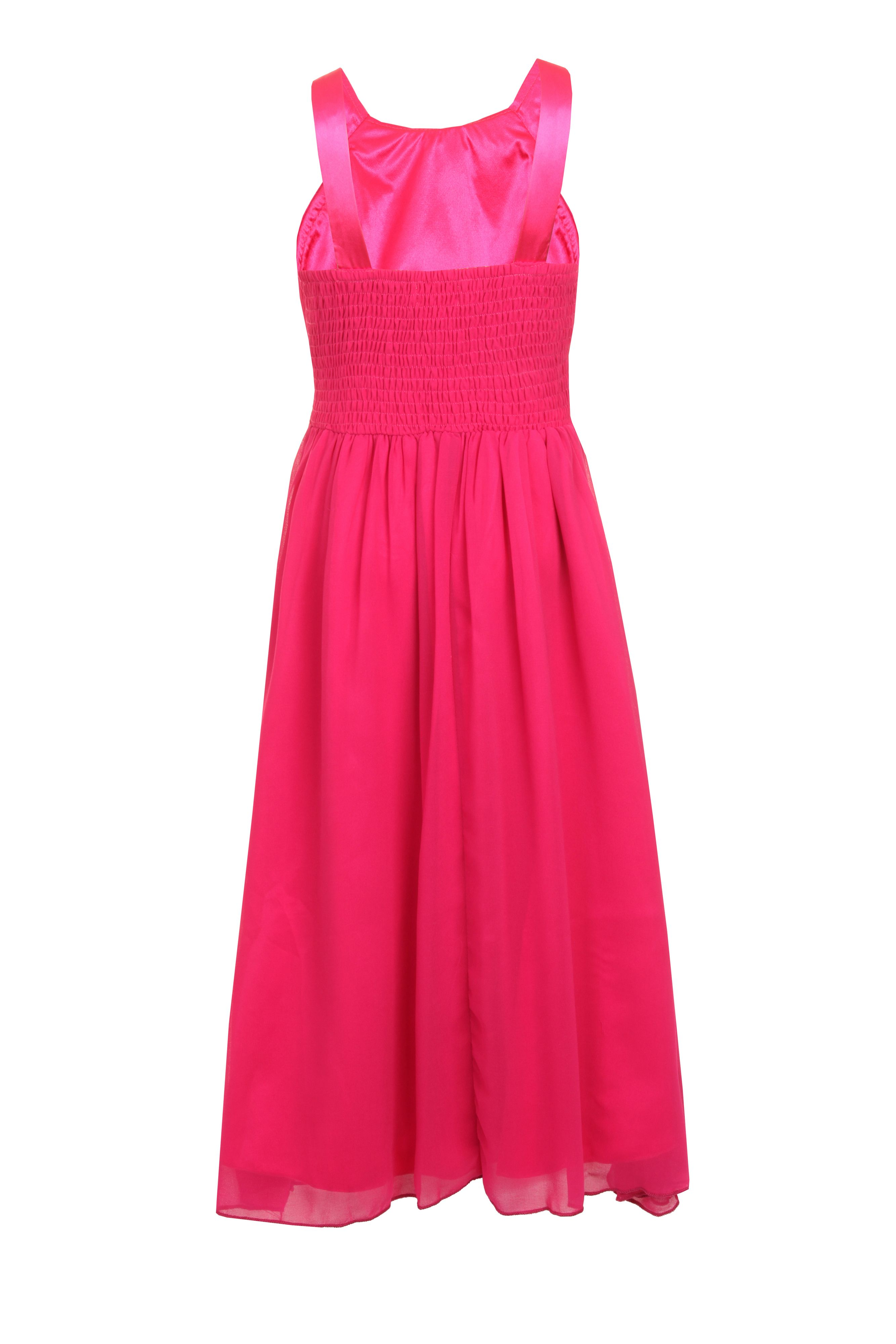 Girls embellished strap maxi dress