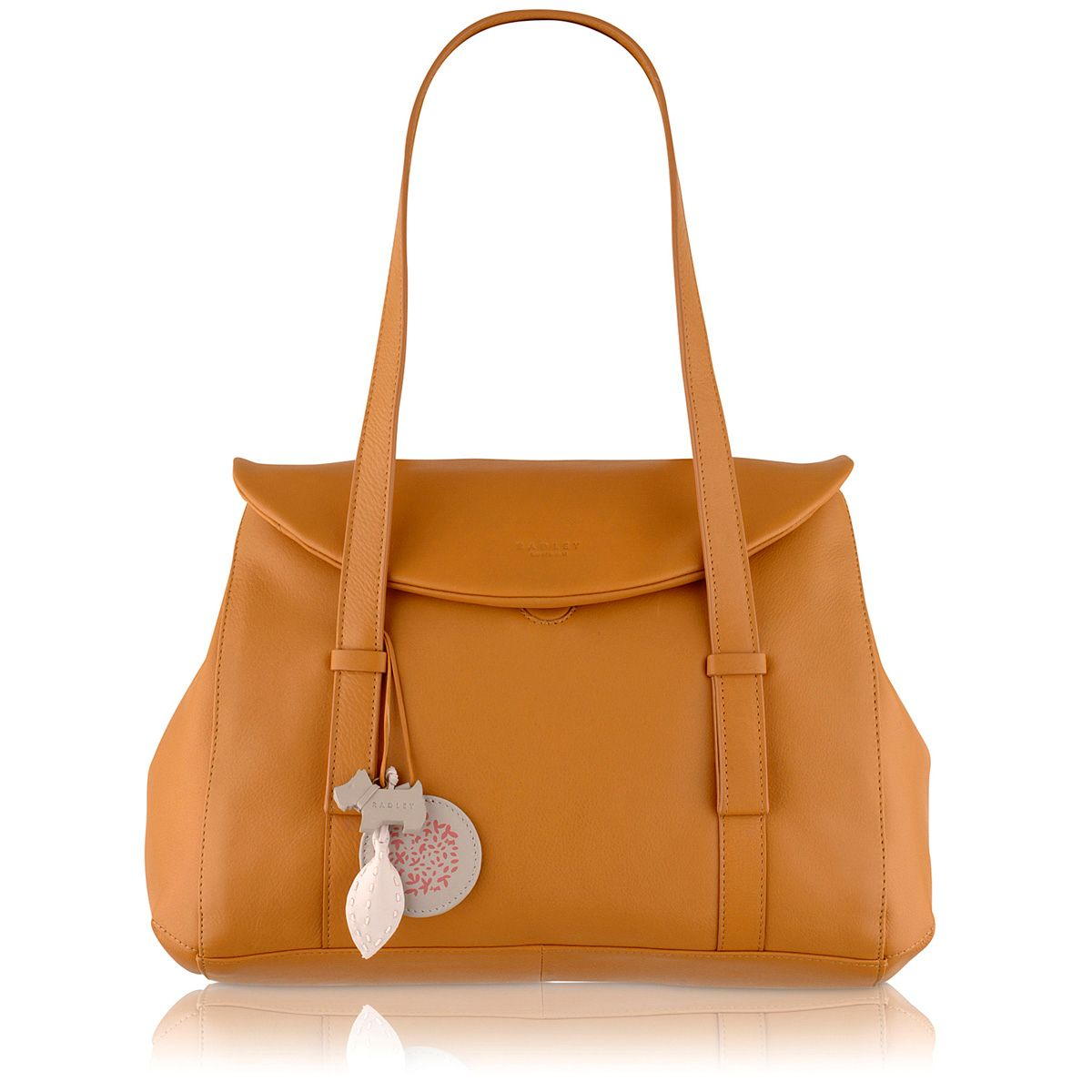 Sherwood tan large flapover tote bag