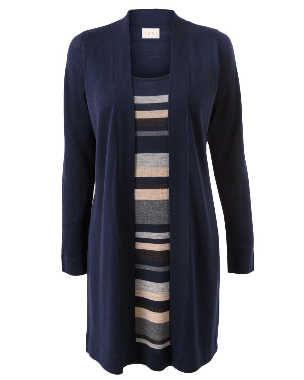 Merino stripe 2 in 1 tunic
