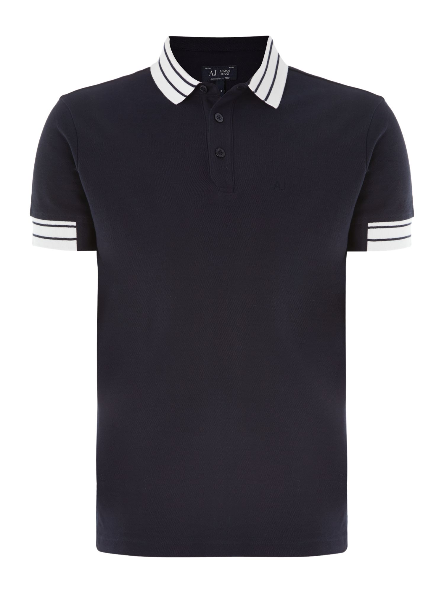 Dipping collar detail polo shirt