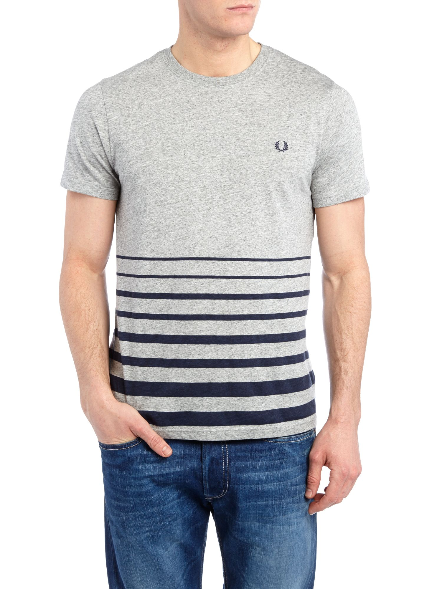Blocked stripe crew neck t-shirt