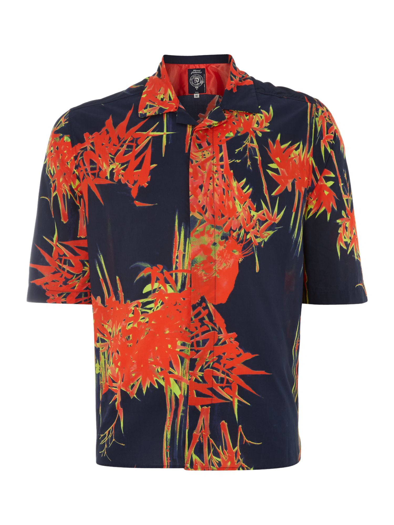 Short sleeve bamboo print shirt
