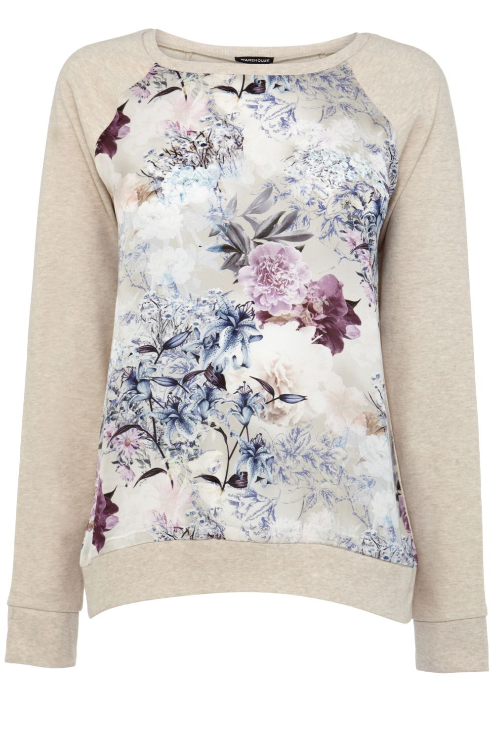 Winter floral print sweat