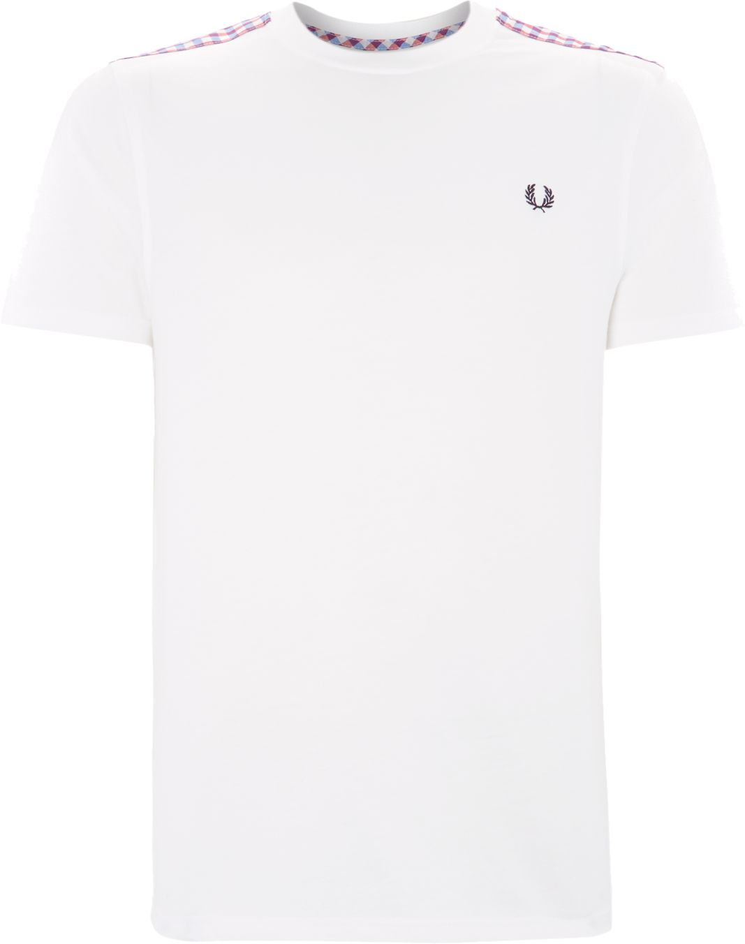 Check trim t-shirt