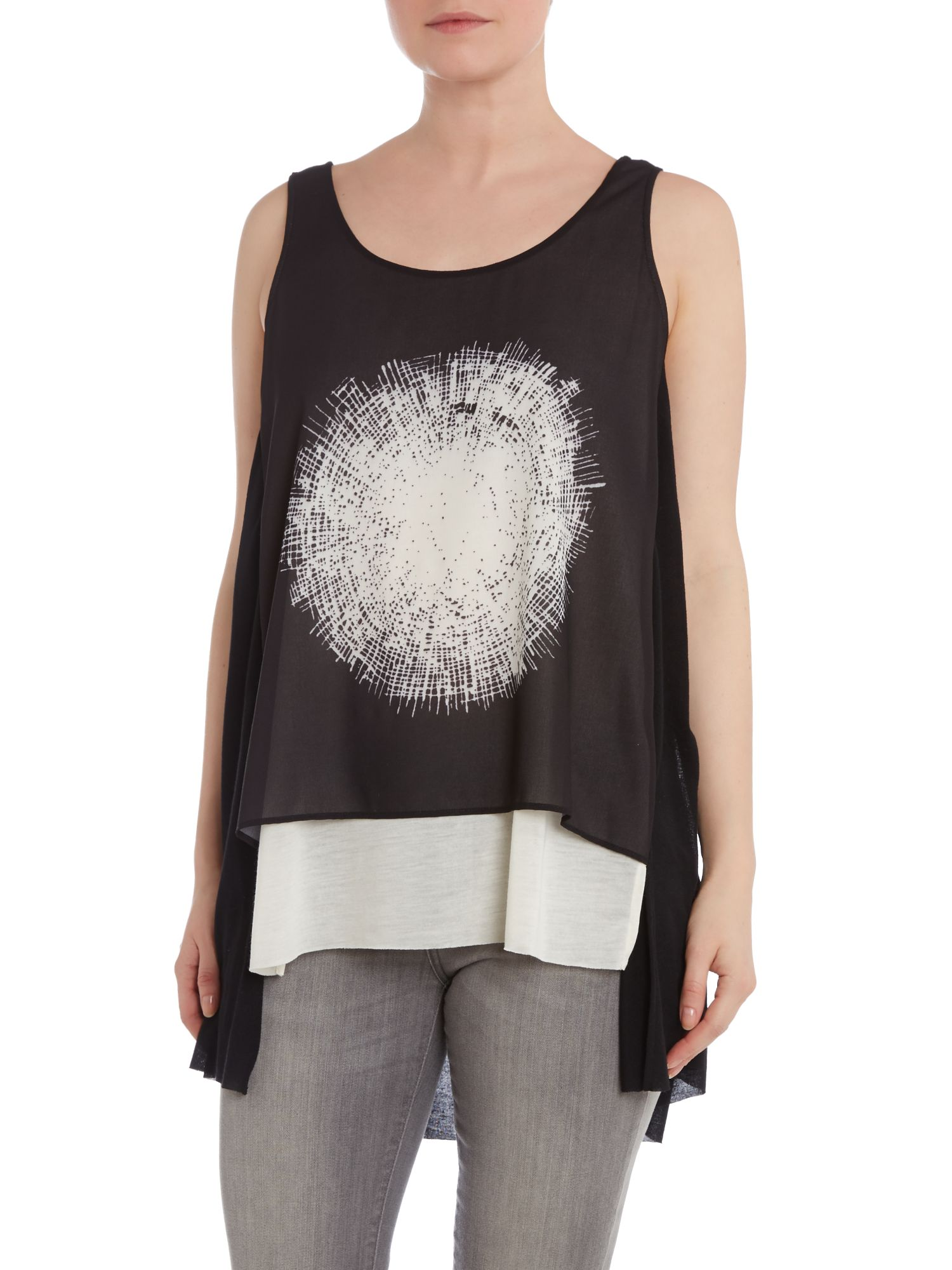 Layered spot vest top