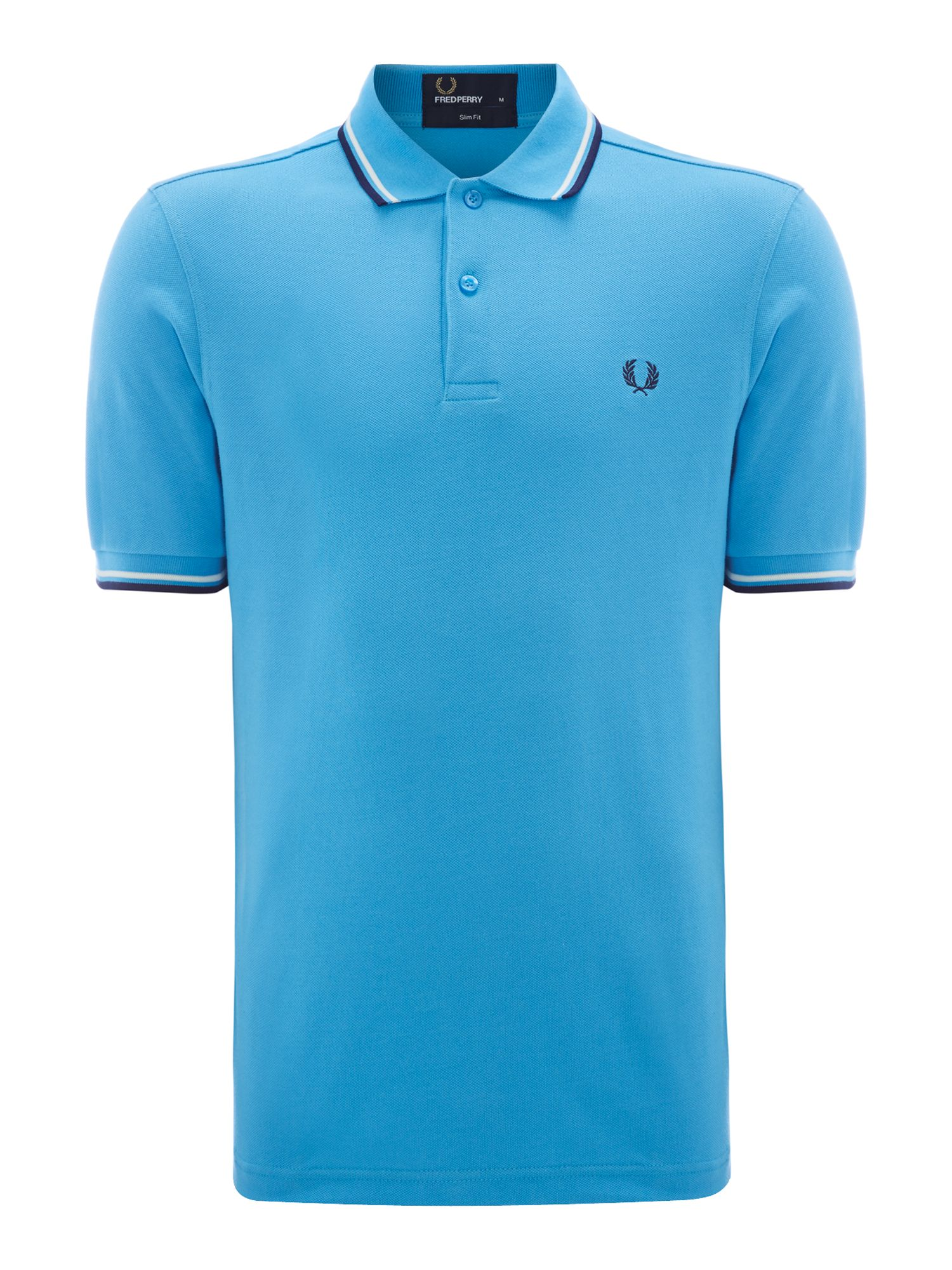 Classic slim fit twin tipped polo shirt