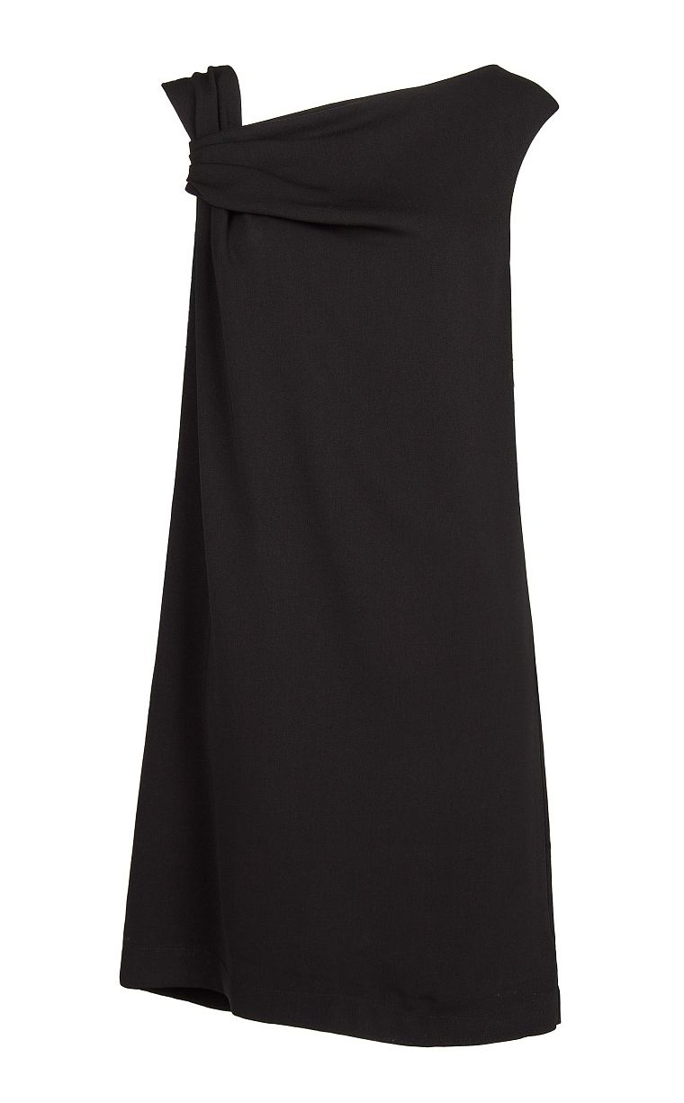 Draped asymmetric dress
