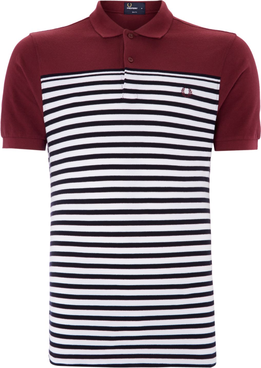 Mens Fred Perry Block & stripe polo shirt Port