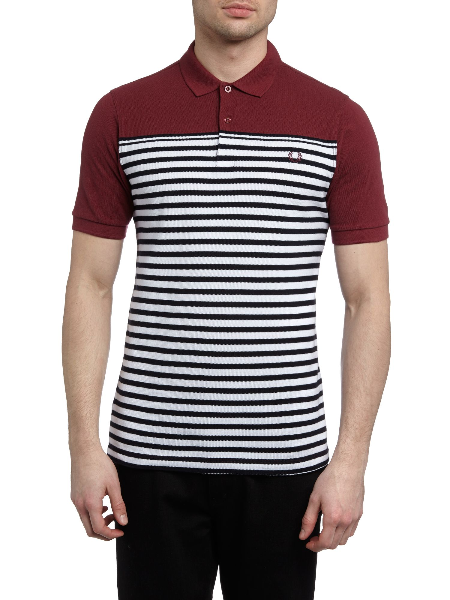 Block & stripe polo shirt