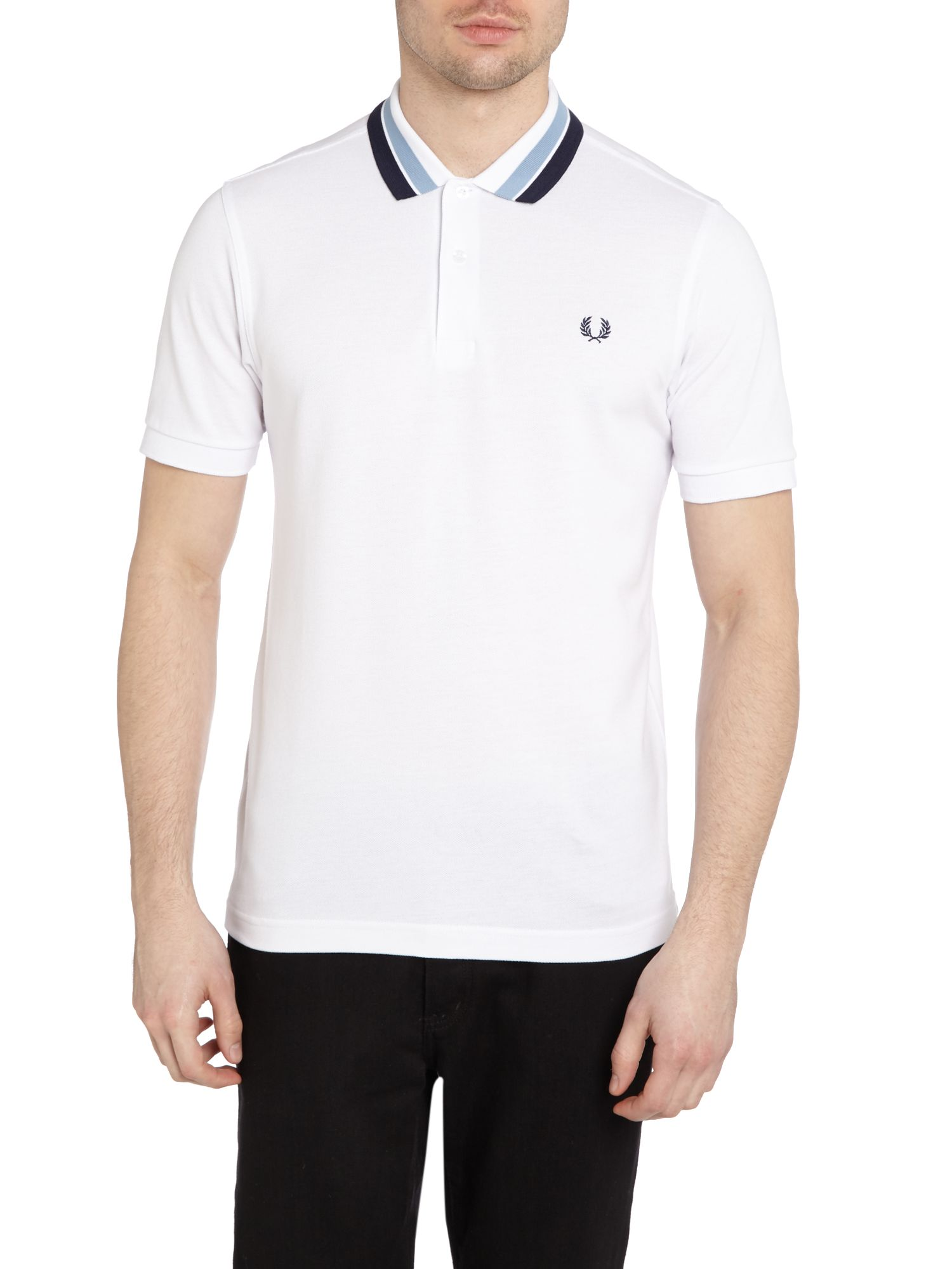 Bold tipped collar polo shirt