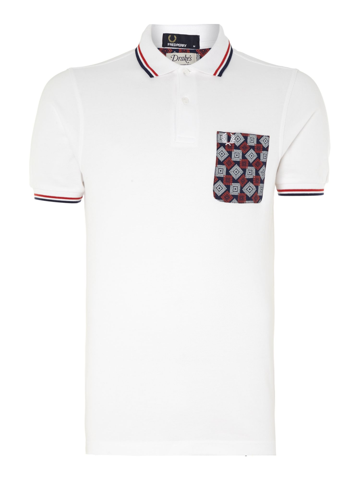 Drake`s medallion pocket polo shirt