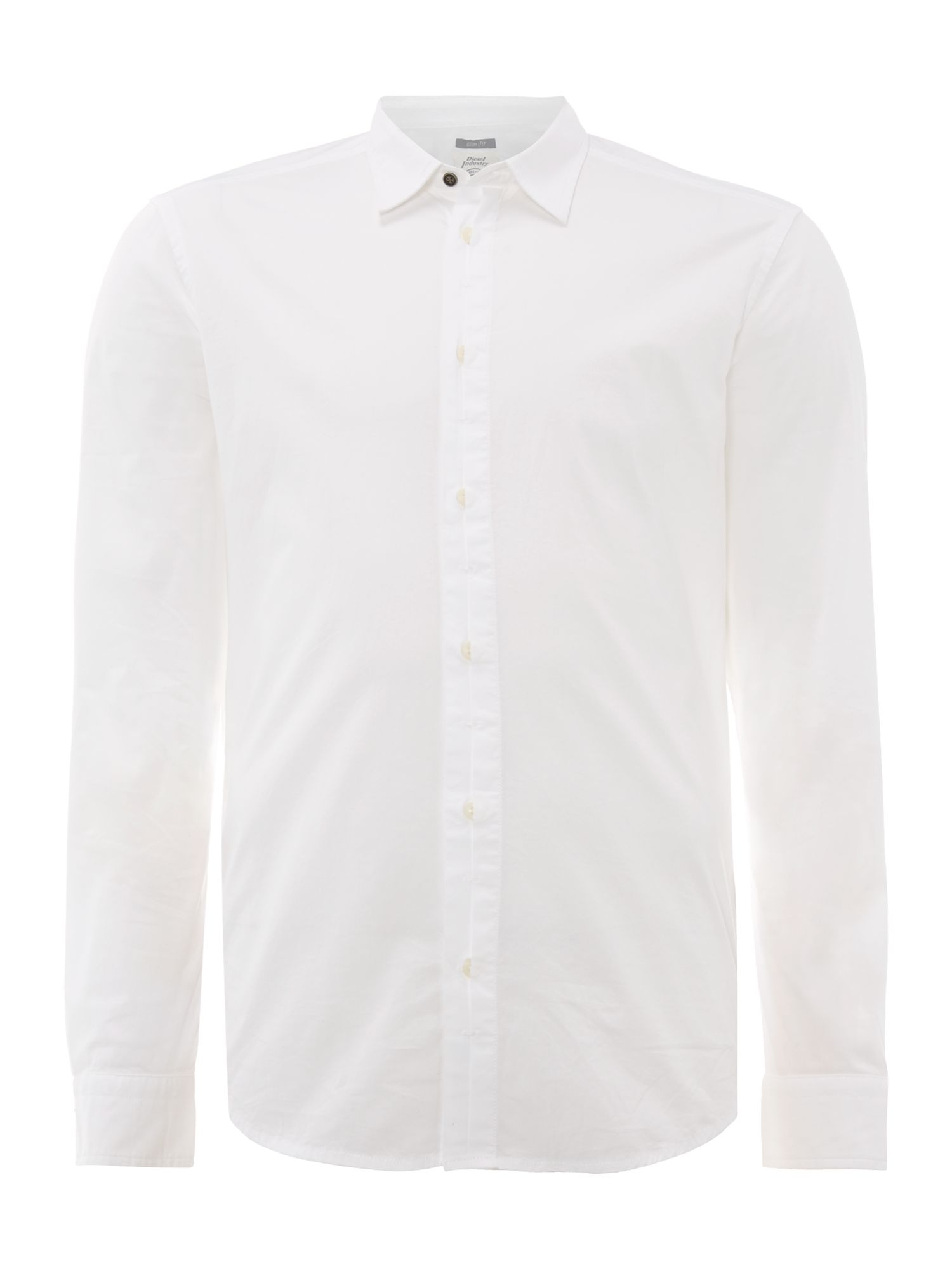 Long sleeve cotton poplin shirt