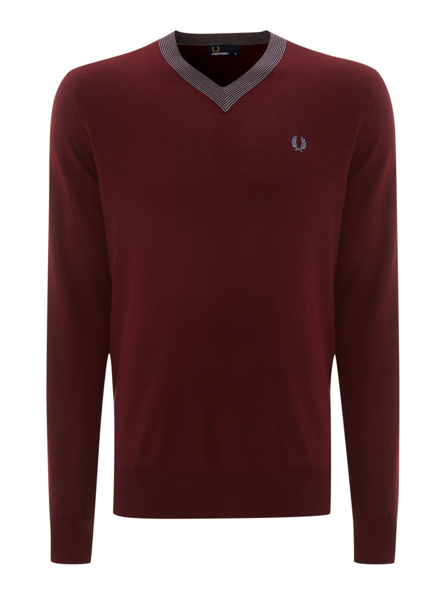 Fine tipped v neck jumper