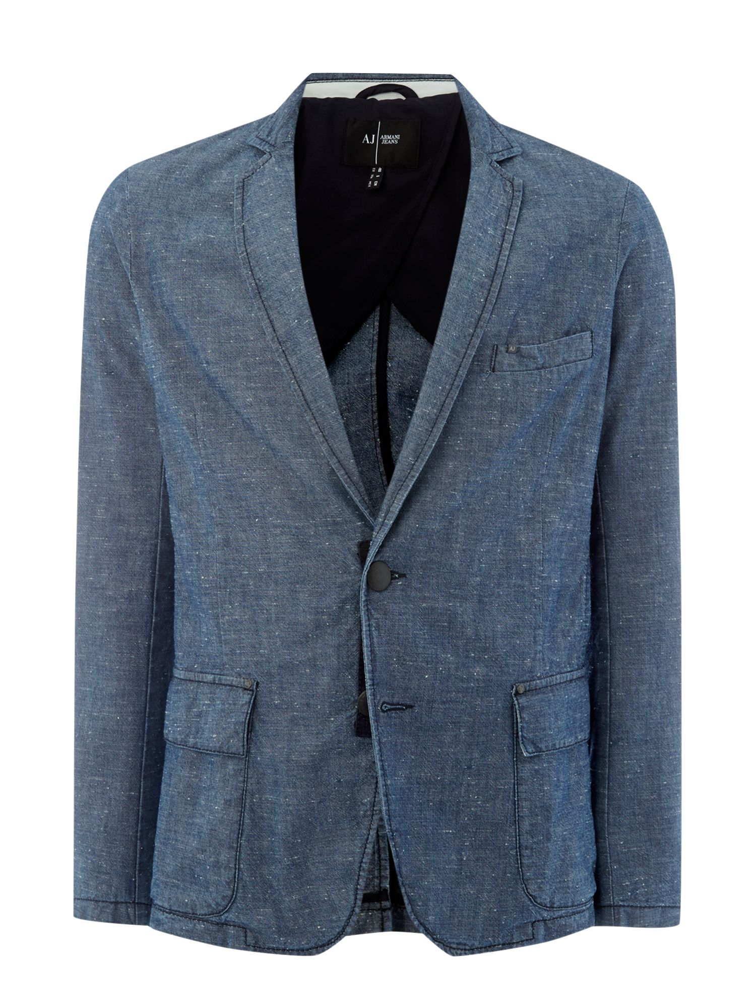 Nep denim blazer