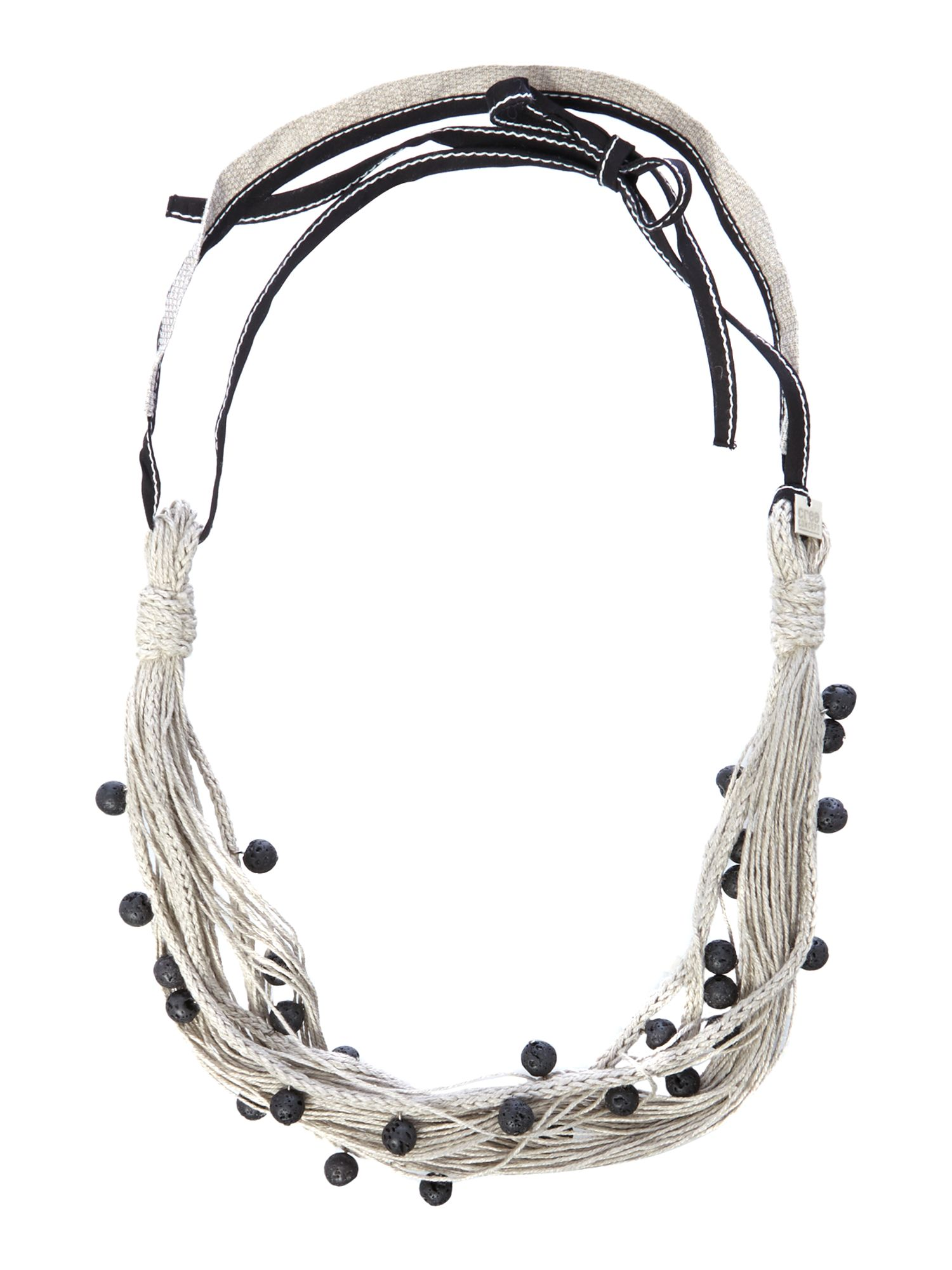 Multi rope beaded necklace