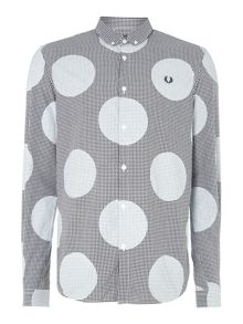 Polka dot gingham shirt