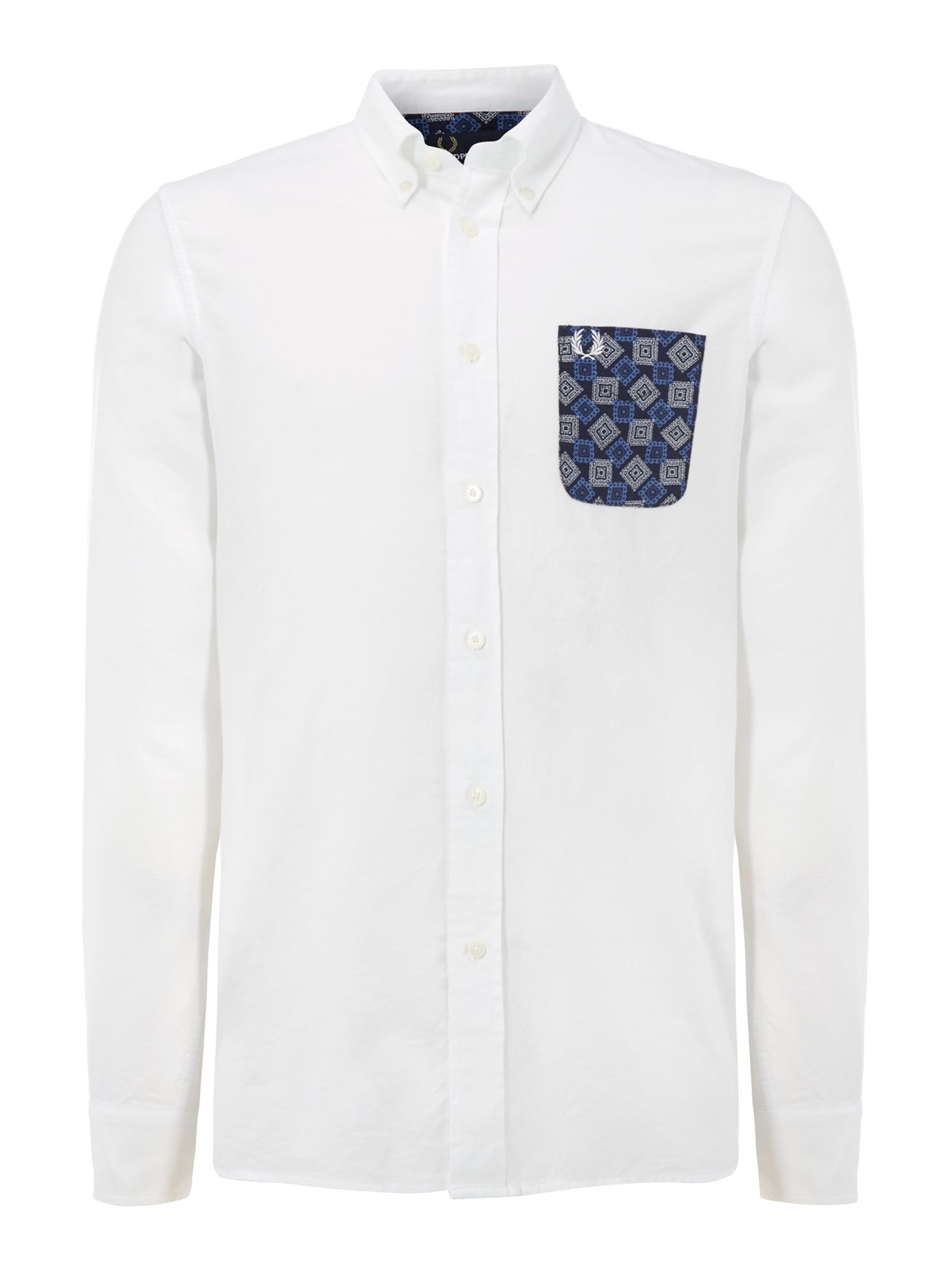 Drake`s medallion pocket shirt
