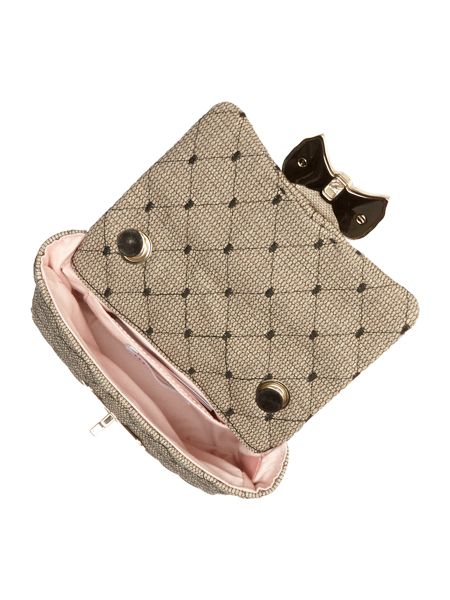 Red Valentino Quilt neutral small cross body bag