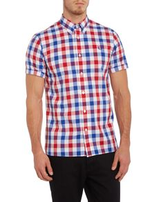 Short sleeve bold gingham shirt