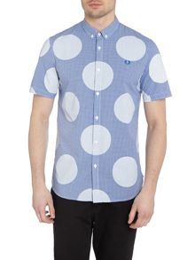 Short sleeve polka gingham shirt