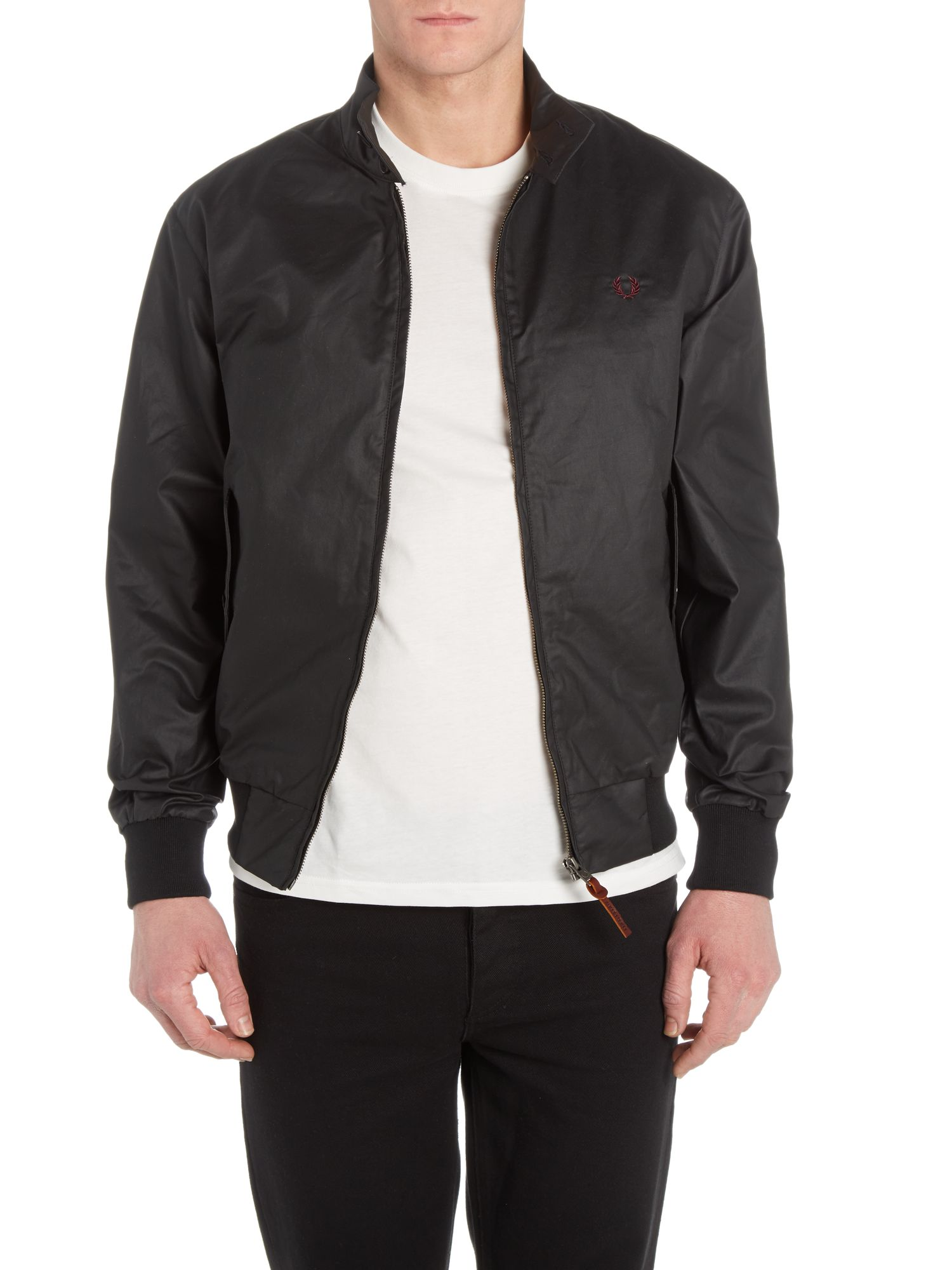Coated twill harrington jacket