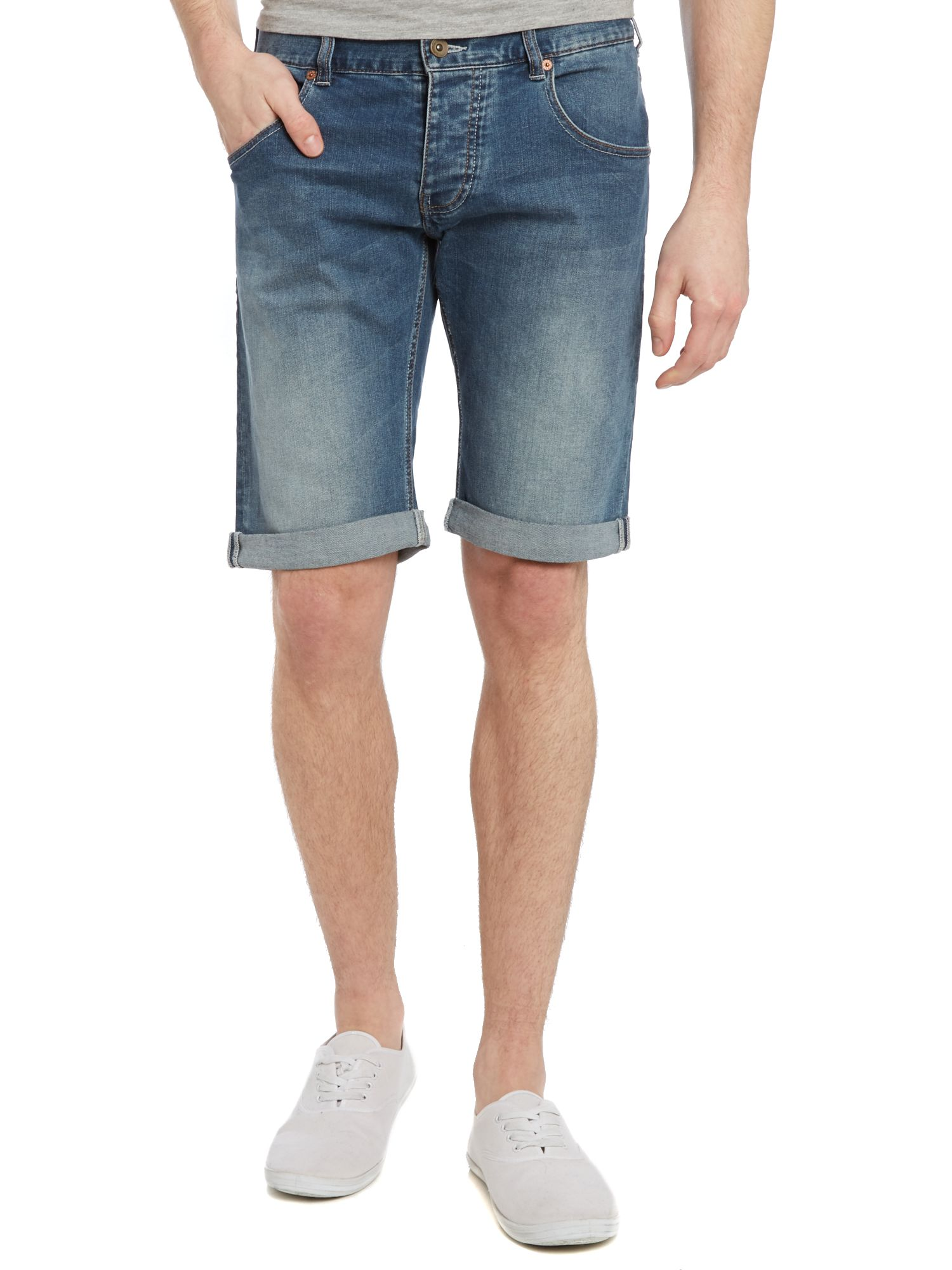 Denim shorts