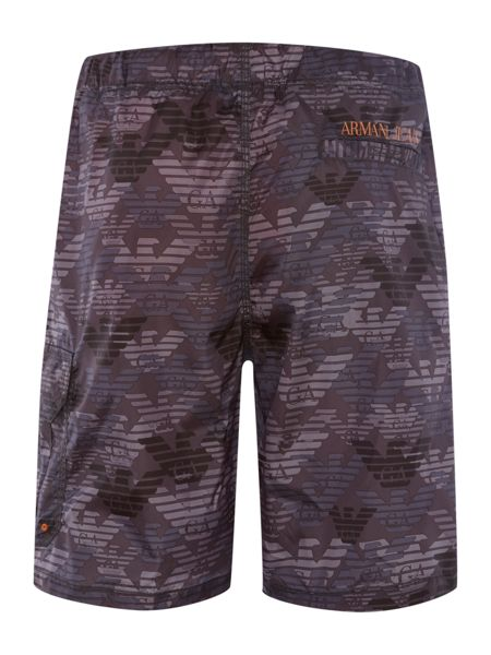 Armani Jeans All over logo swim shorts