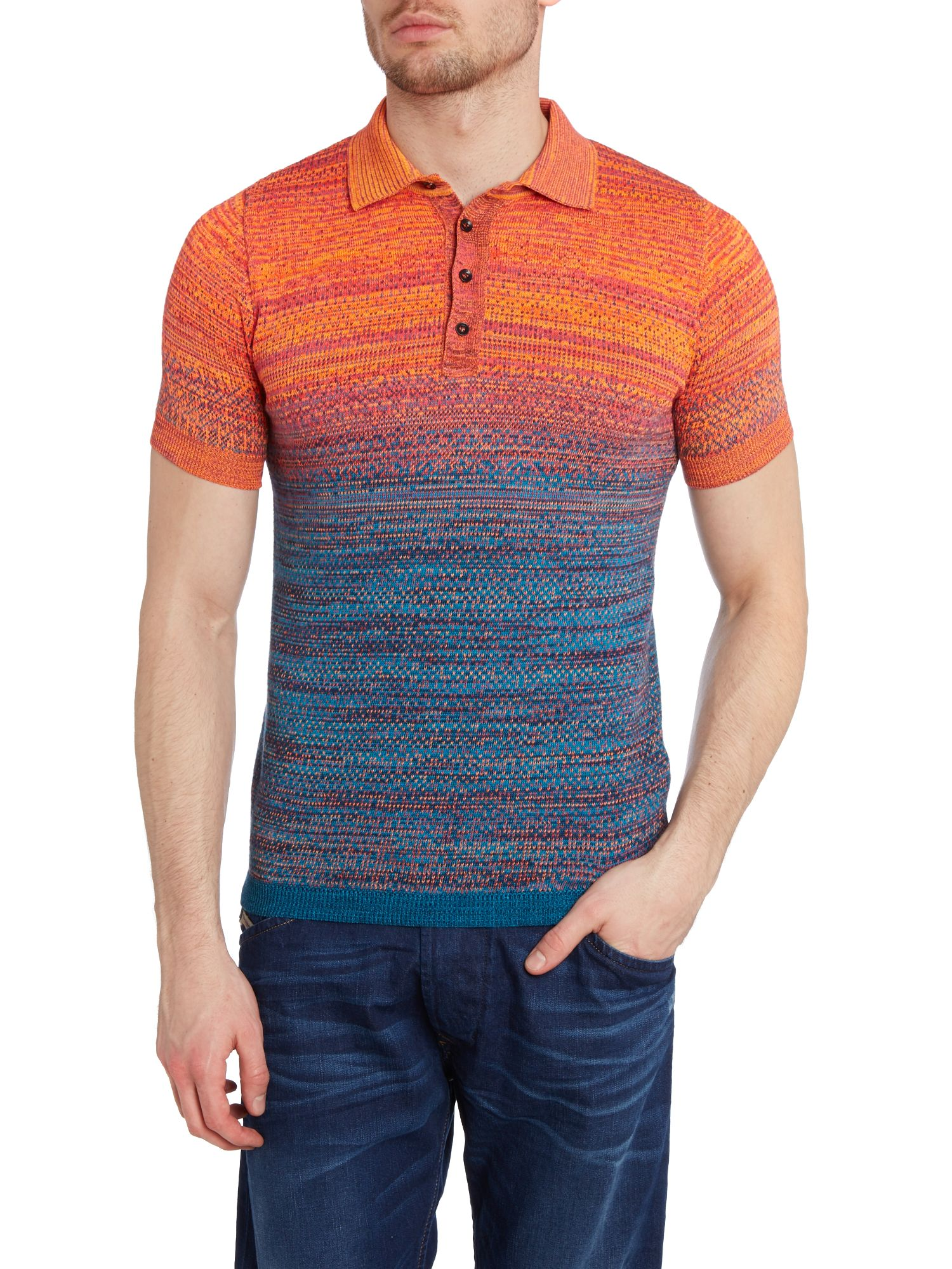 Knitted ombre polo