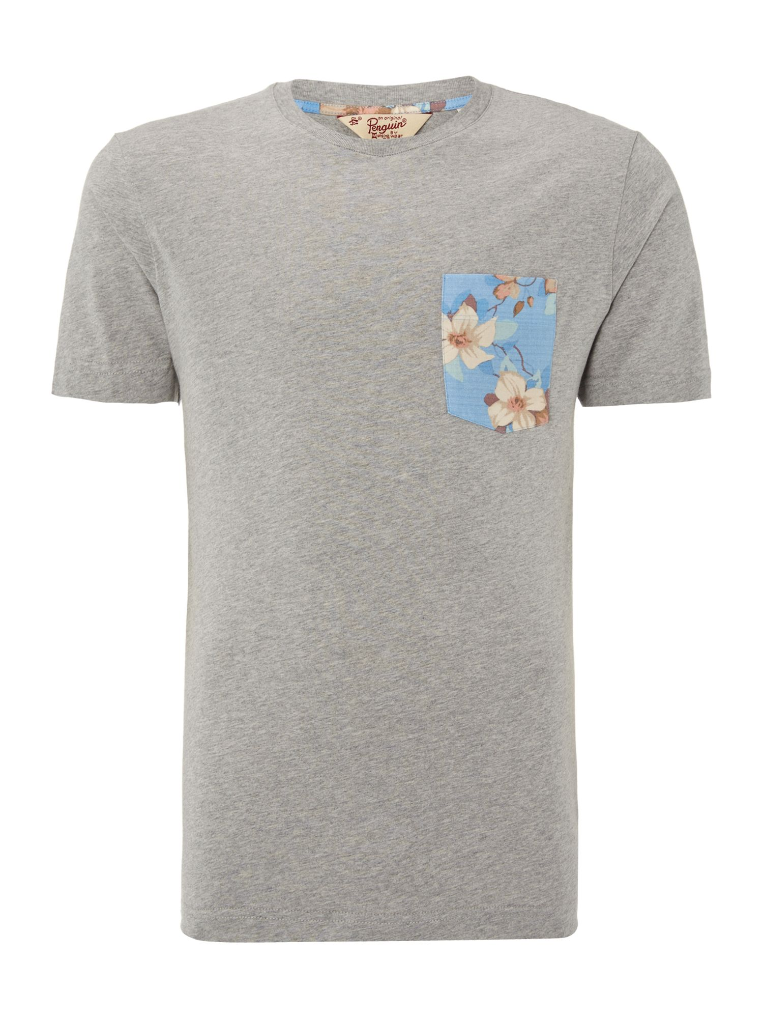 Woven pocket trim t shirt